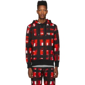 アレキサンダー マックイーン Alexander McQueen メンズ パーカー トップス【Black & Red Pullover Hoodie】Black/Red