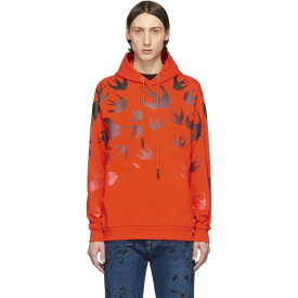 アレキサンダー マックイーン McQ Alexander McQueen メンズ パーカー トップス【Orange Swallow Hoodie】Orange/Black