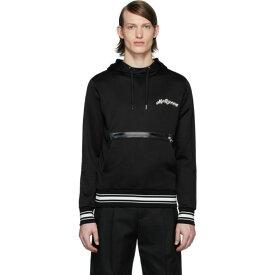 アレキサンダー マックイーン Alexander McQueen メンズ パーカー トップス【Black Embroidered Logo Hoodie】Black