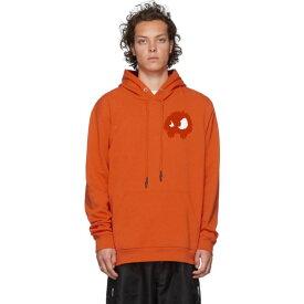 アレキサンダー マックイーン McQ Alexander McQueen メンズ パーカー トップス【Orange Chester Hoodie】Electric orange/White