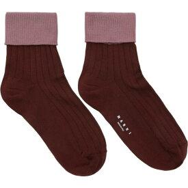 マルニ Marni メンズ ソックス インナー・下着【purple & pink silk socks】Bordeaux