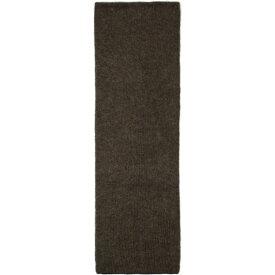 リック オウエンス Rick Owens メンズ マフラー・スカーフ・ストール 【brown & black wool & mohair fisherman scarf】Black/Brown