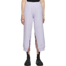 メゾン マルジェラ MM6 Maison Margiela レディース ボトムス・パンツ 【SSENSE Exclusive Purple Split Lounge Pants】Purple