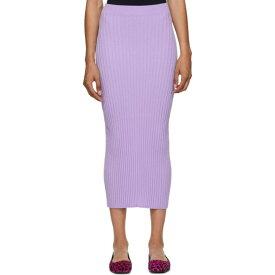 メゾン マルジェラ MM6 Maison Margiela レディース スカート タイトスカート【Purple Tight Knit Skirt】Lilac
