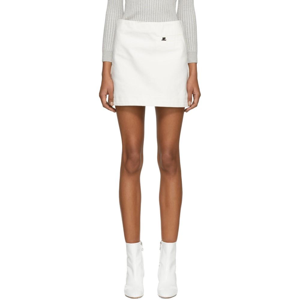 クレージュ レディース スカート ミニスカート【White Denim Pocket Miniskirt】