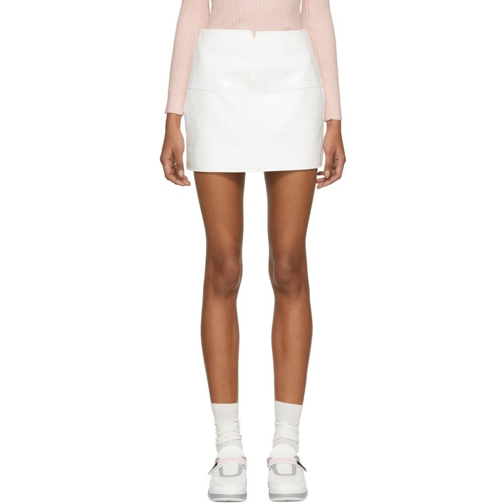 クレージュ レディース スカート ミニスカート【White Vinyl Miniskirt】