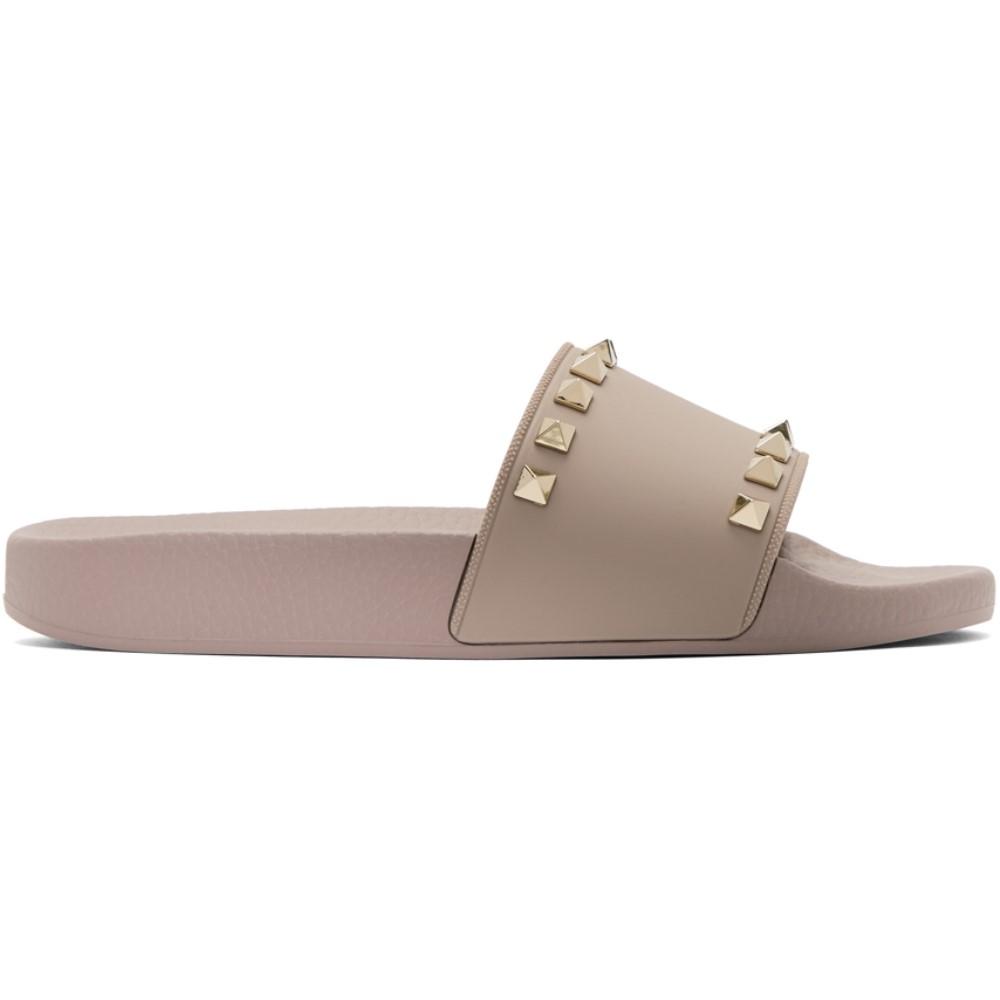 ヴァレンティノ レディース シューズ・靴 サンダル・ミュール【Pink Valentino Garavani Rockstud Slides】