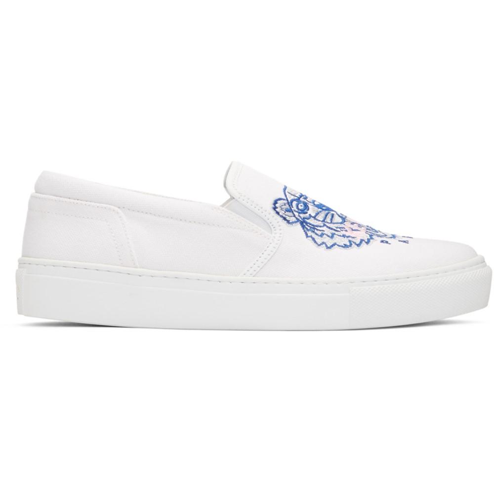 ケンゾー レディース シューズ・靴 スニーカー【White Tiger K-Skate Slip-On Sneakers】