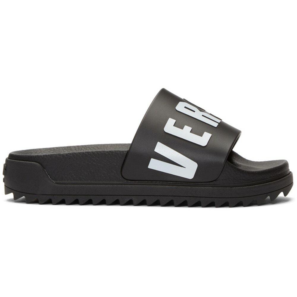 ヴェルサーチ レディース シューズ・靴 サンダル・ミュール【Black Logo Slides】