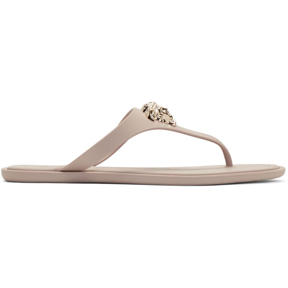 ヴェルサーチ レディース シューズ・靴 サンダル・ミュール【Taupe Rubber Medusa Sandals】