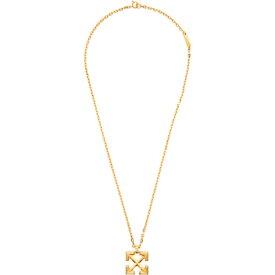 オフホワイト Off-White レディース ネックレス ジュエリー・アクセサリー【Gold Arrows Necklace】Gold