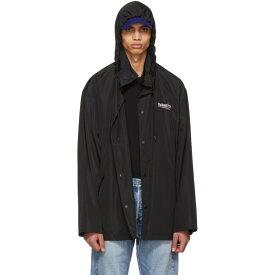 バレンシアガ メンズ アウター レインコート【Black Archetype Logo Raincoat】
