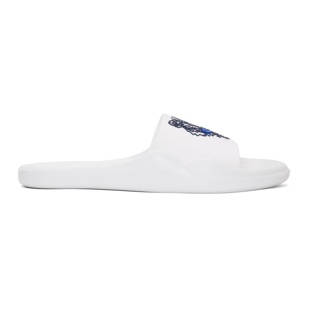ケンゾー レディース シューズ・靴 サンダル・ミュール【White Logo Pool Slides】