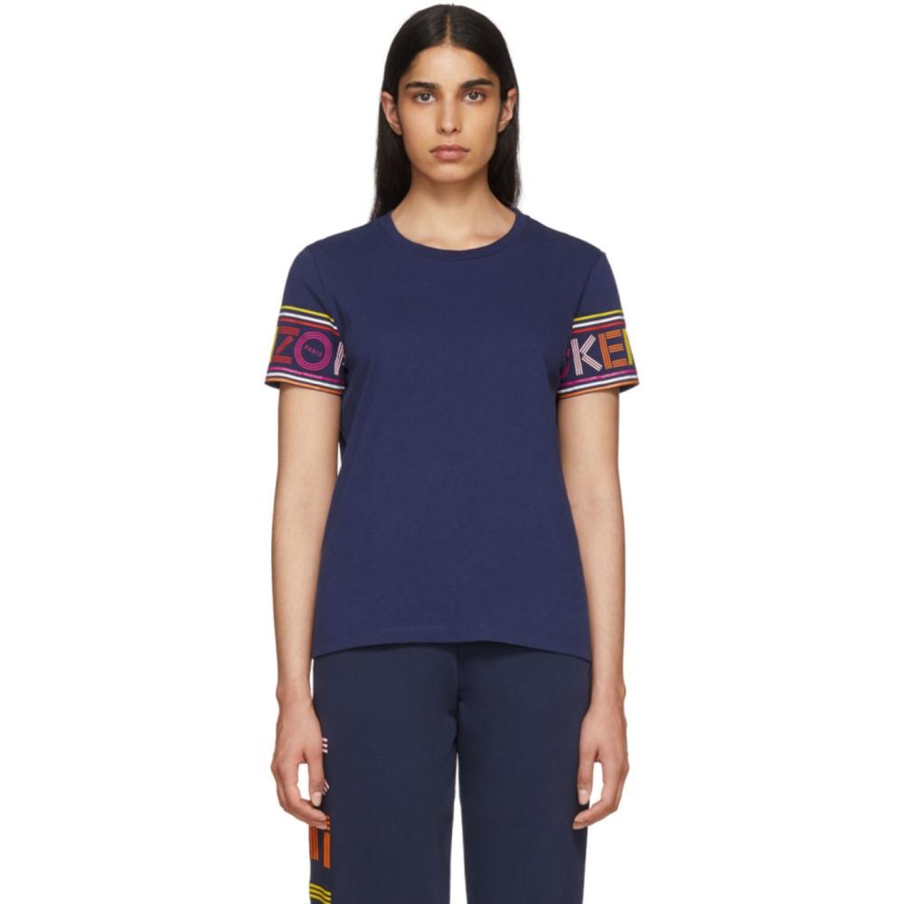 ケンゾー レディース トップス Tシャツ【Navy Limited Edition Multicolor Logo T-Shirt】
