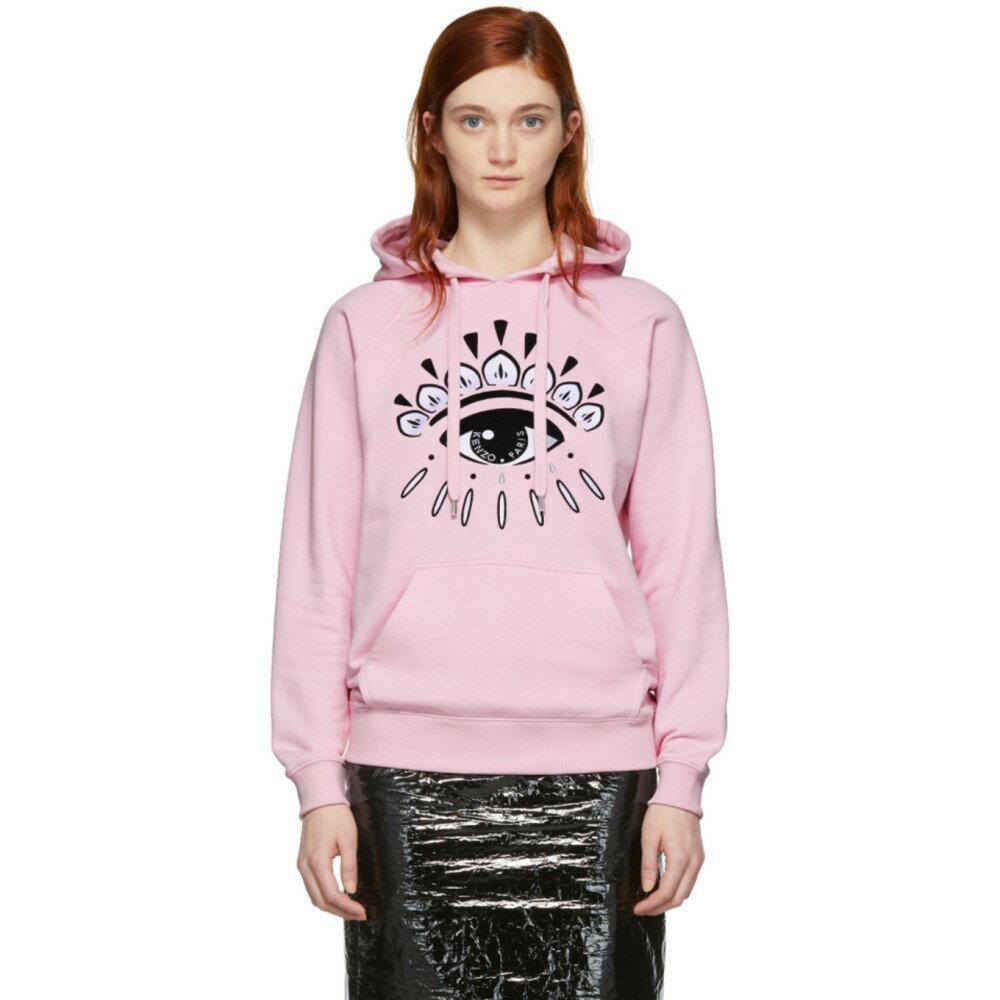 ケンゾー レディース トップス パーカー【Pink Eye Logo Hoodie】