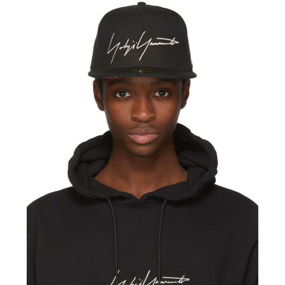 ヨウジヤマモト メンズ 帽子 キャップ【Black New Era Edition Logo Cap】