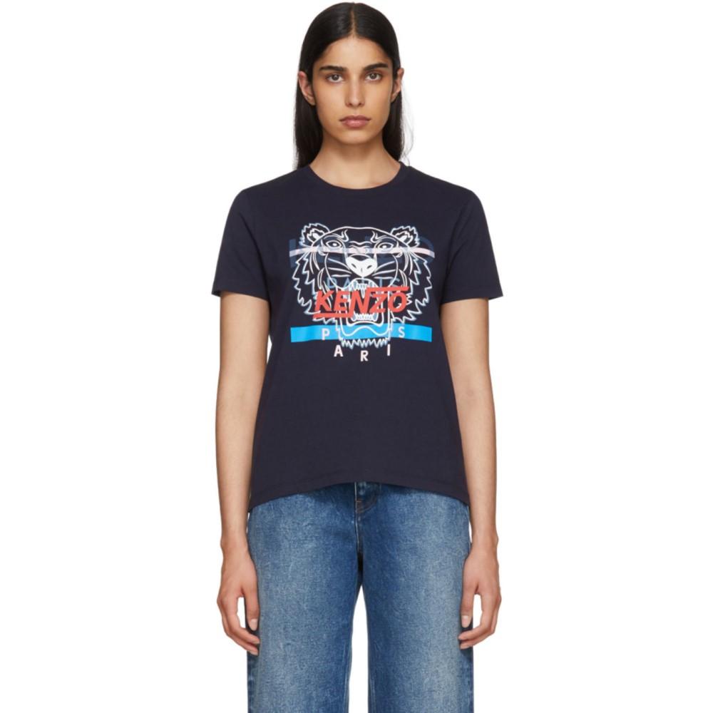 ケンゾー レディース トップス Tシャツ【Navy Limited Edition Hyper Tiger T-Shirt】