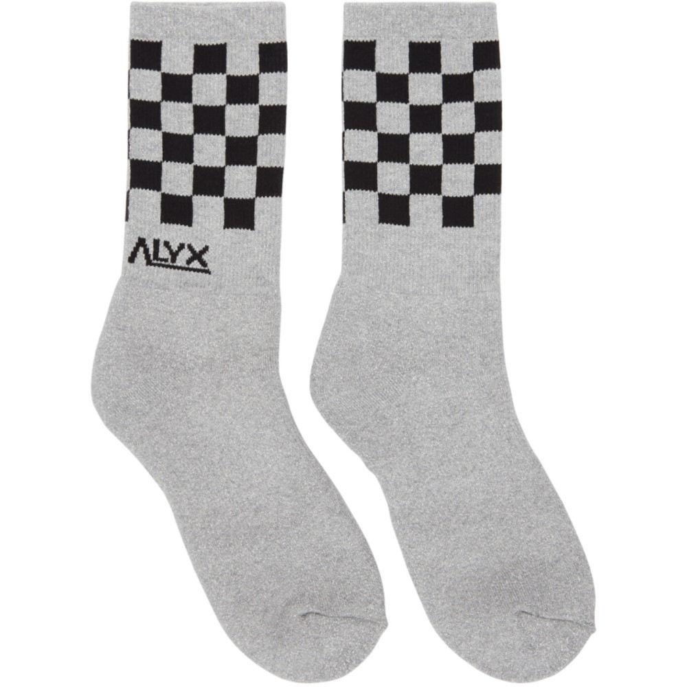 アリクス レディース インナー・下着 ソックス【Grey Modello B Checkerboard Socks】