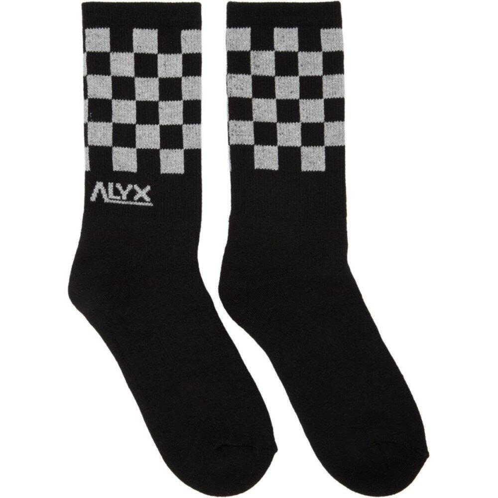 アリクス メンズ インナー・下着 ソックス【Black Modello B Checkerboard Socks】