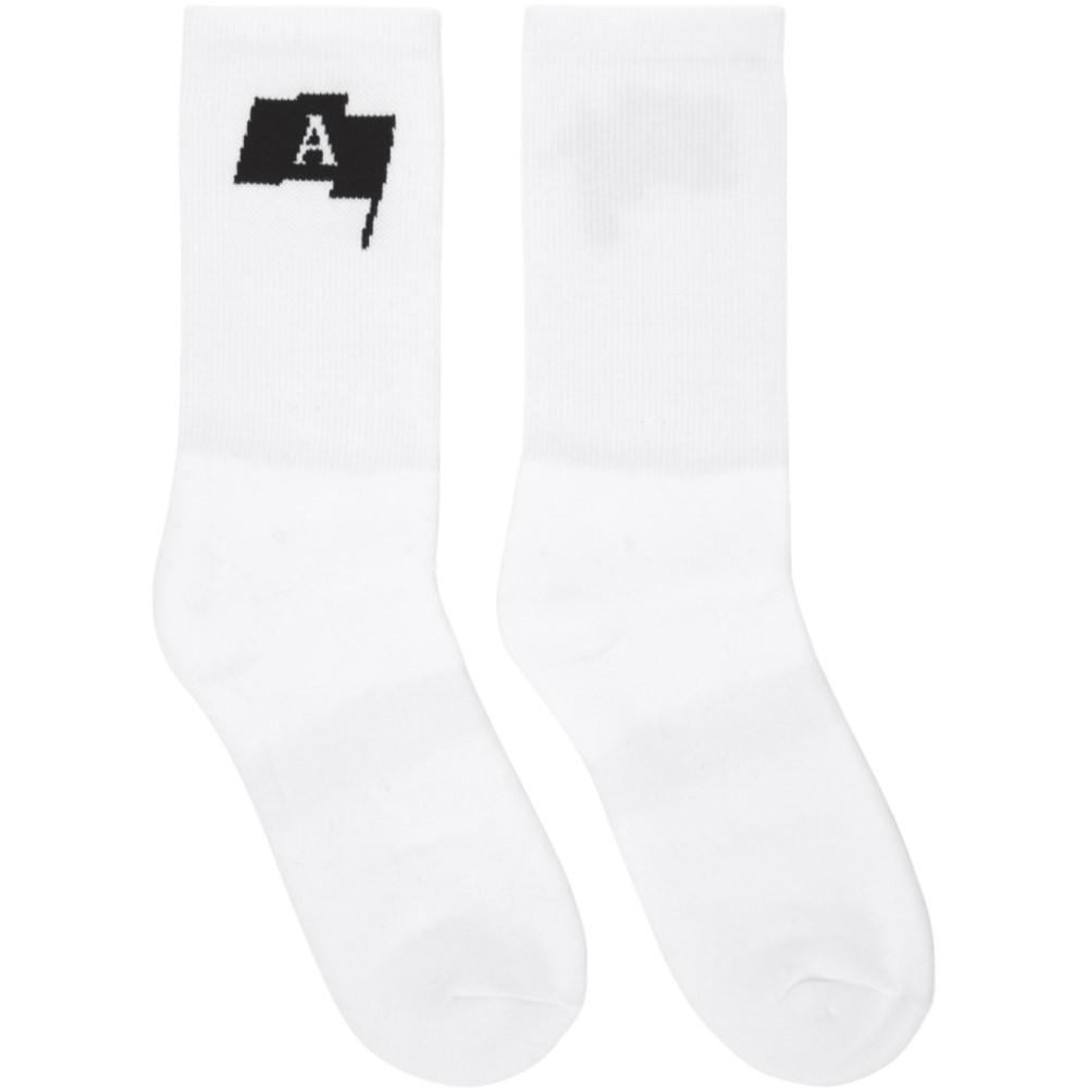 アリクス メンズ インナー・下着 ソックス【White Modello C Socks】