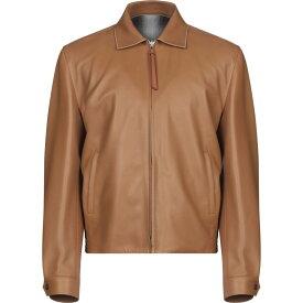 ロエベ LOEWE メンズ レザージャケット アウター【leather jacket】Brown