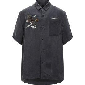 マハリシ MAHARISHI メンズ シャツ トップス【solid color shirt】Steel grey