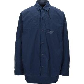 マハリシ MAHARISHI メンズ シャツ トップス【solid color shirt】Dark blue