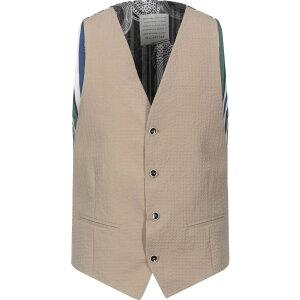 ニール カッター NEILL KATTER メンズ ベスト・ジレ トップス【Suit Vest】Beige