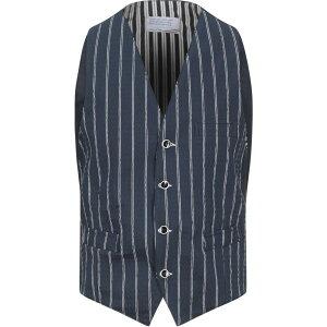 ニール カッター NEILL KATTER メンズ ベスト・ジレ トップス【Suit Vest】Dark blue