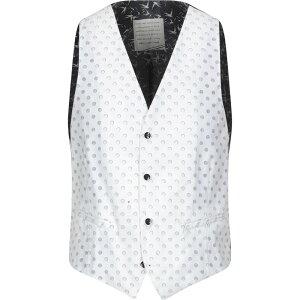 ニール カッター NEILL KATTER メンズ ベスト・ジレ トップス【Suit Vest】White