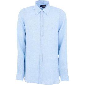 トラサルディ TRUSSARDI JEANS メンズ シャツ トップス【linen shirt】Azure