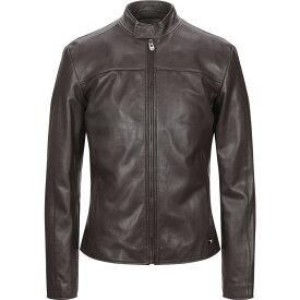 トラサルディ TRUSSARDI JEANS メンズ レザージャケット アウター【leather jacket】Dark brown