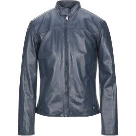 トラサルディ TRUSSARDI JEANS メンズ レザージャケット アウター【leather jacket】Dark blue