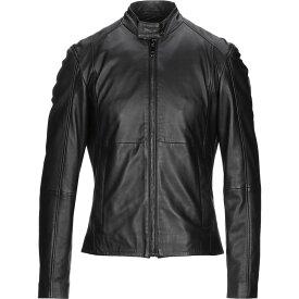 トラサルディ TRUSSARDI JEANS メンズ レザージャケット ライダース アウター【biker jacket】Black