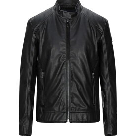 トラサルディ TRUSSARDI JEANS メンズ ジャケット ライダース アウター【biker jacket】Black
