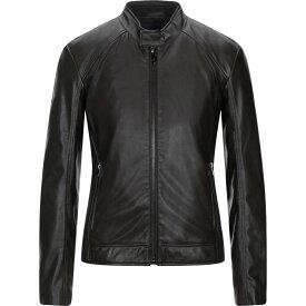 トラサルディ TRUSSARDI JEANS メンズ ジャケット ライダース アウター【biker jacket】Cocoa