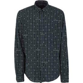 トラサルディ TRUSSARDI JEANS メンズ シャツ トップス【checked shirt】Dark blue