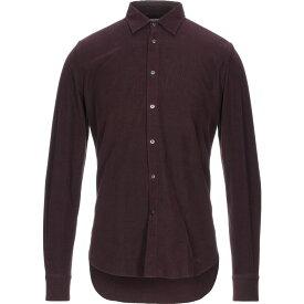 ボリオリ BOGLIOLI メンズ シャツ トップス【solid color shirt】Maroon