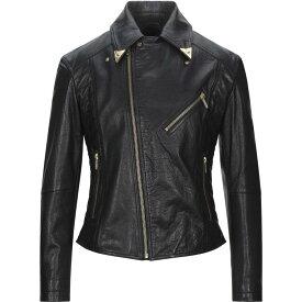 ヴェルサーチ VERSACE JEANS COUTURE メンズ レザージャケット ライダース アウター【Biker Jacket】Black