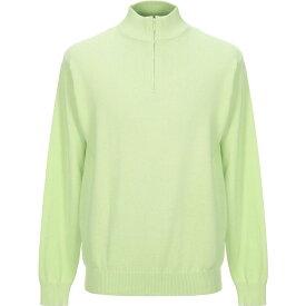 ダンディ DANDI メンズ ニット・セーター トップス【sweater with zip】Acid green