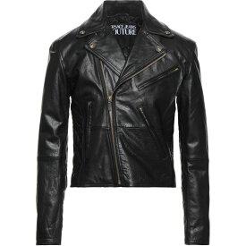ヴェルサーチ VERSACE JEANS COUTURE メンズ レザージャケット アウター【Biker Jackets】Black