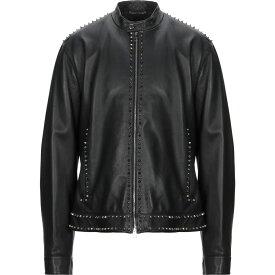 ヴェルサーチ VERSACE COLLECTION メンズ レザージャケット アウター【Leather Jacket】Black