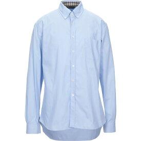 アクアスキュータム AQUASCUTUM メンズ シャツ トップス【solid color shirt】Sky blue