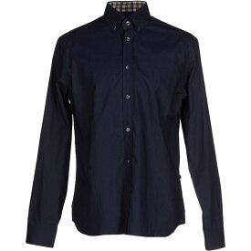 アクアスキュータム AQUASCUTUM メンズ シャツ トップス【solid color shirt】Dark blue
