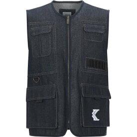 カール カナイ KARL KANI メンズ ベスト・ジレ トップス【suit vest】Blue