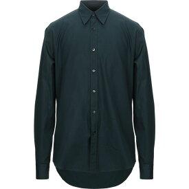 サルヴァトーレ フェラガモ SALVATORE FERRAGAMO メンズ シャツ トップス【solid color shirt】Dark green