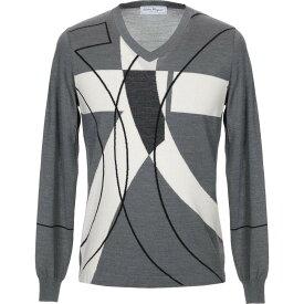 サルヴァトーレ フェラガモ SALVATORE FERRAGAMO メンズ ニット・セーター トップス【sweater】Grey