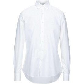 サルヴァトーレ フェラガモ SALVATORE FERRAGAMO メンズ シャツ トップス【solid color shirt】White