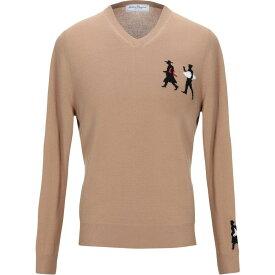 サルヴァトーレ フェラガモ SALVATORE FERRAGAMO メンズ ニット・セーター トップス【sweater】Camel