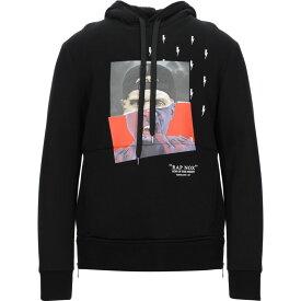 ニール バレット NEIL BARRETT メンズ パーカー トップス【hooded sweatshirt】Black